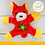 Thumbnail: Мягкая игрушка-магнит «Собачка», длинные ушки, цветок, цвета МИКС