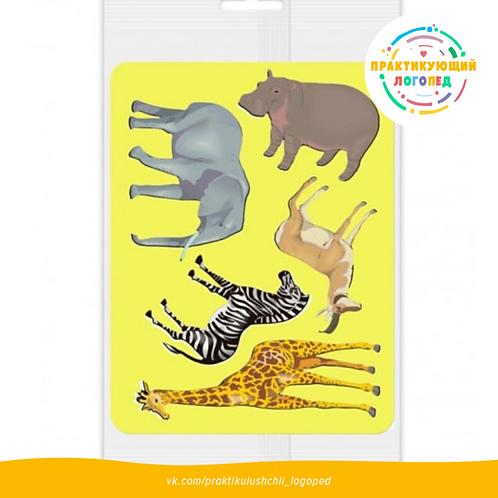 Трафарет для рисования «Животные Африки», европодвес