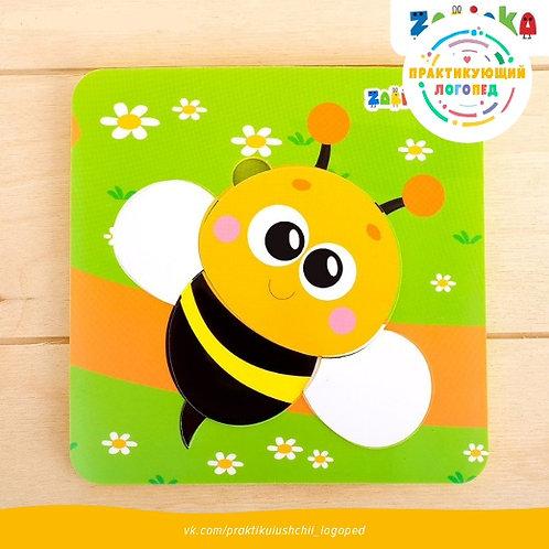 Пазл-вкладыш из материала EVA «Пчёлка»