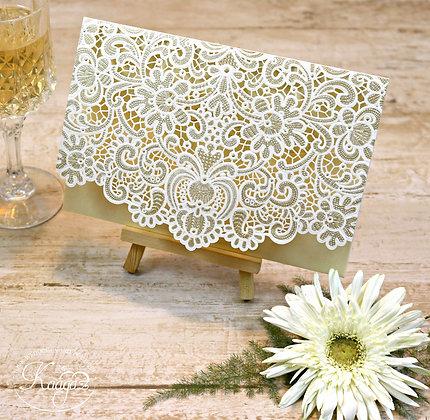 Fancy Embossed Envelope - Wedding Invitation