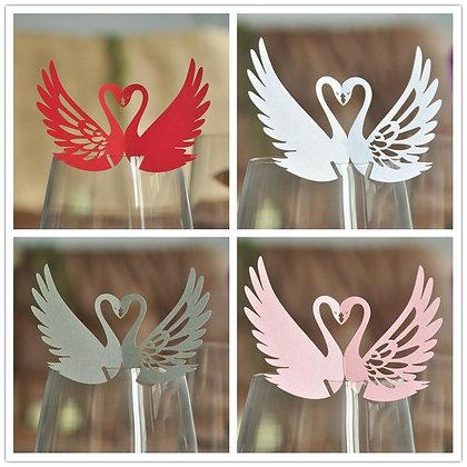 Swan Wine Glass Décor