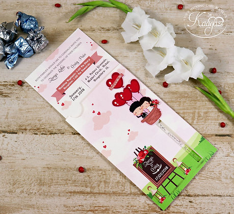 Paper-Mation Wedding Invitation Card