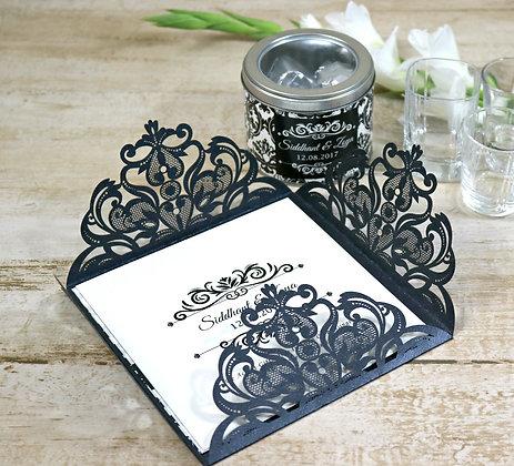 Black Luxurious Wedding Card