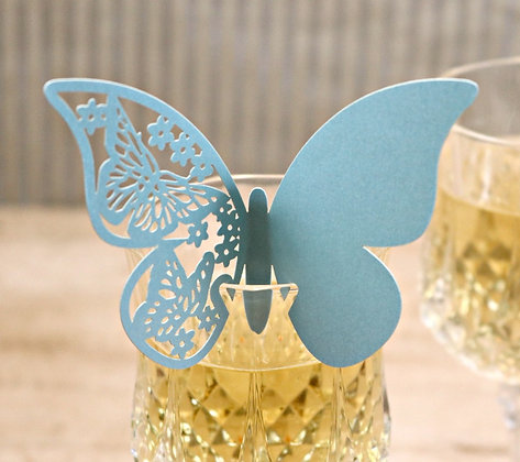Butterfly Wine Glass Décor