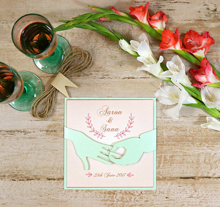 Exquisite Ring Ceremony - Christian Wedding Card