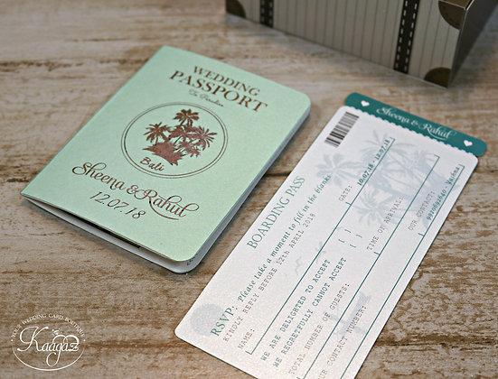 Passport, Boarding Card & Suitcase - Destination Wedding
