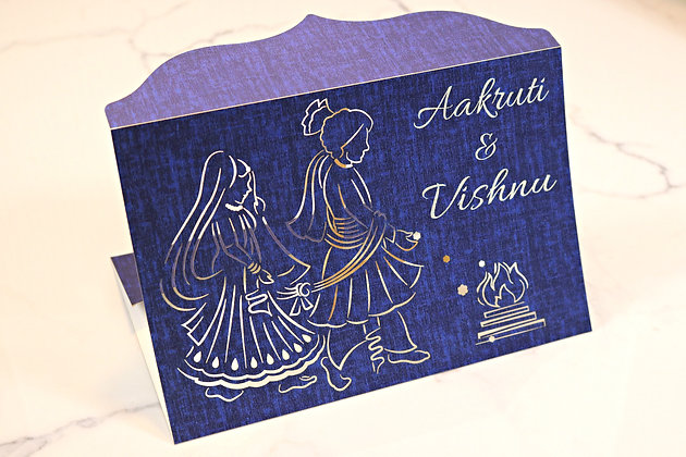 Hindu Themed- Laser Cut Wedding Invitation