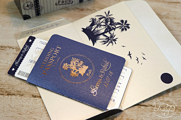 Destination Wedding- Passport Wedding Invitation