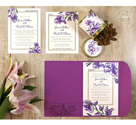 Lovely Lily Wedding Invitation – Laser Cut