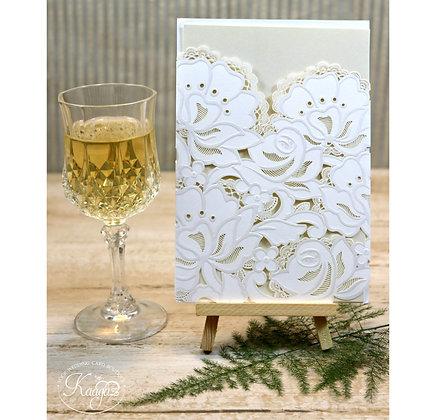 Pure Beauty - Laser Cut & Embossed Wedding Invitation
