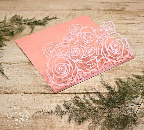 Pretty Rosy Wedding Invitation