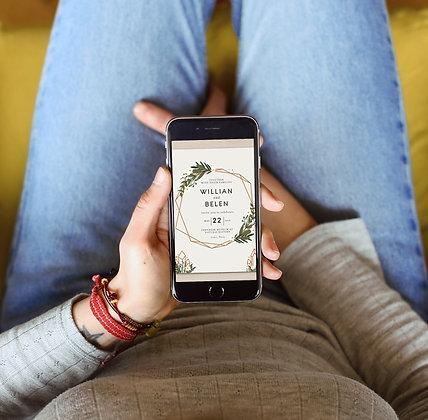 Modern E-Invite  - Themed Wedding Invitation