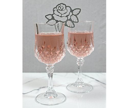 Rose Wine Glass Décor