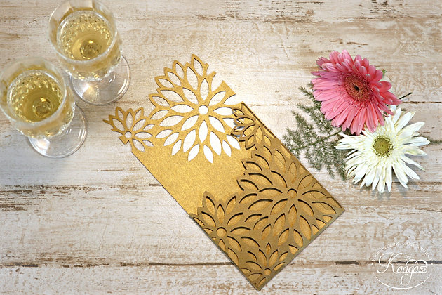 Fabulous Floral Pattern - Laser Cut Wedding Invitation