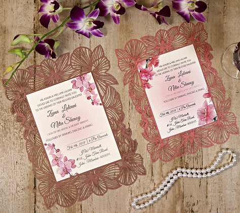 Graceful Orchid Wedding Card