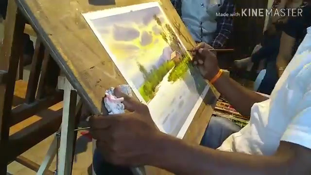 Live Watercolor demo by artist Nanasaheb