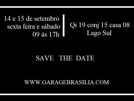 GARAGE SALE EXCEPCIONAL - 14 e 15 de SETEMBRO 2018