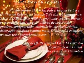 Sale Especial de Natal dias 11 e 12 de dezembro