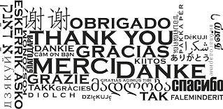 Obrigado - Gracias - Takk - Thank you ...