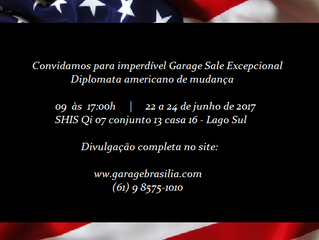 Garage sale Diplomata americano de mudança