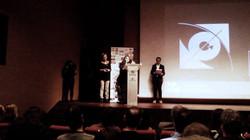 """Recogida premio """"Mejor guion"""" AQNSB"""