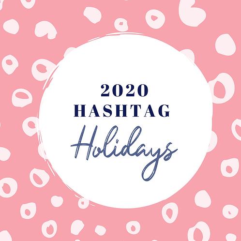 Holiday Hashtag List