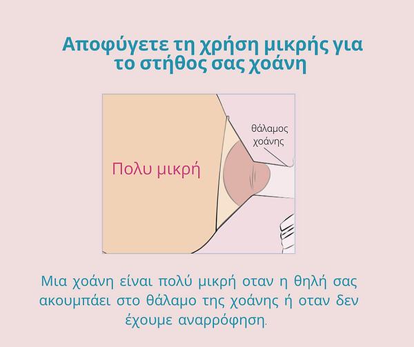 Οδηγός Επιλογής Χοάνης Θηλασμού βήμα 4