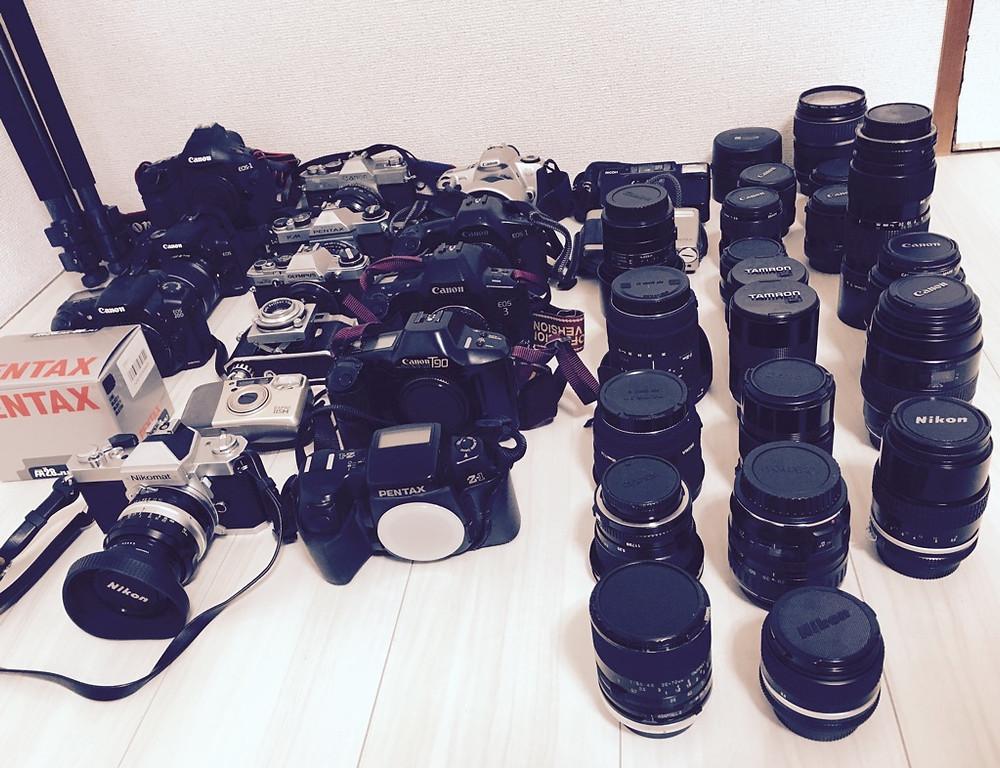 たくさんのフィルムカメラ