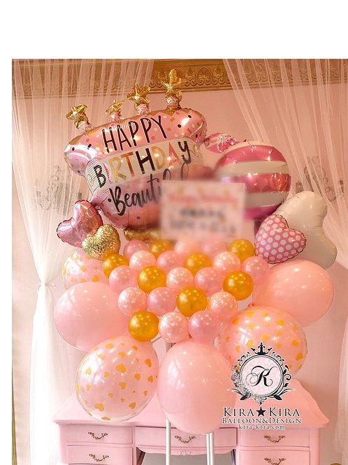 37.バースデーピンクケーキ