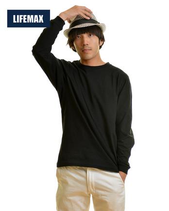6.2オンス ヘビーウェイトロングスリーブTシャツ:16ブラック Lサイ