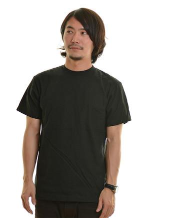 5.6オンス ヘビーウェイトTシャツ 005ブラック メンズモデル .j