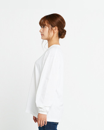 Printstar 5.6オンス ヘビーウェイトビッグLS-Tシャツ(00114-BCL)ホワイト_サイド