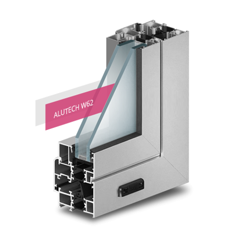 Алюминиевый профиль Alutech W62