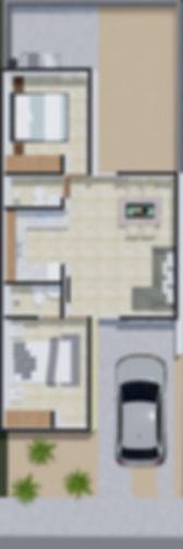 Planta casa modelo sol / Aura residencial Los Cabos