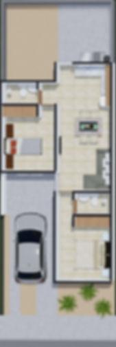 planta casa modelo Luna / Aura Residencial Los Cabos