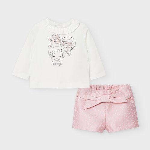 Mayoral Girls  Pink Shorts & Top Set