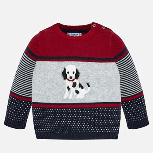Mayoral Baby Boys Jumper with Puppy Motif