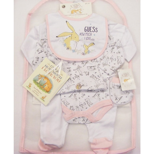 """""""Guess How Much I Love You"""" Baby Girls Layette Set"""