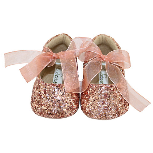 Rose Gold Glitter Party Shoes
