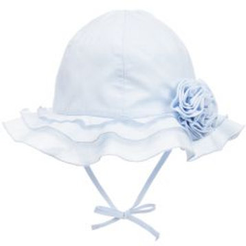 Sarah Louise Pale Blue Sun Hat for Baby Girl