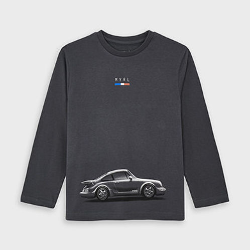 Mayoral Boys Long Sleeve Top with Car Design