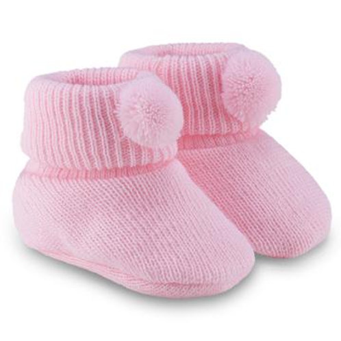 Baby Girls Pale Pink Bootees