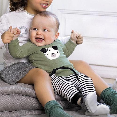 Mayoral Baby Boys Sage BearTracksuit Strip Jogger