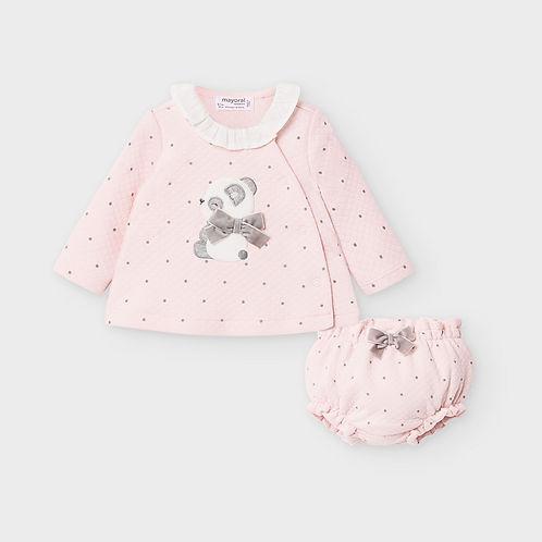 Mayoral Baby Girls Pink Jam Set