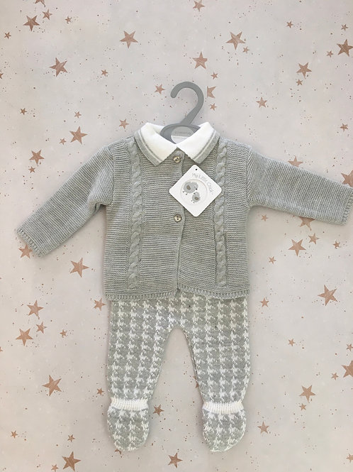 Baby Boys Knitted Three Piece Outfit
