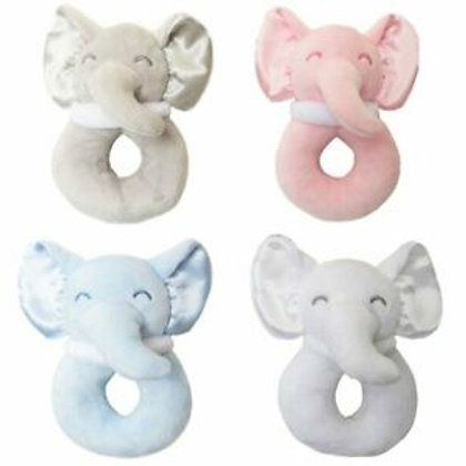 Soft Touch Elephant Baby Rattle