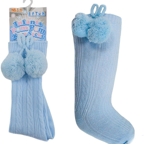 Soft Touch Unisex Long Pom Pom Socks