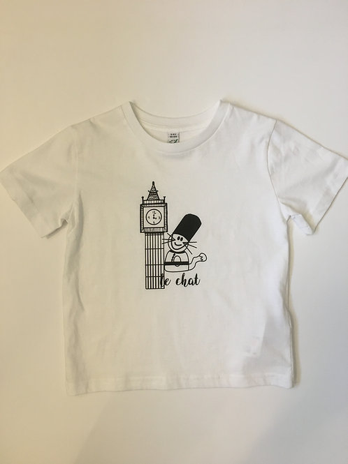 Boys White Organic Cotton Short Sleeve T Shirt
