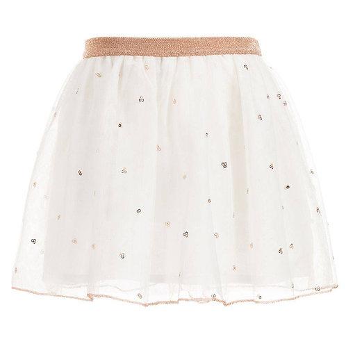 Billieblush Cream & Gold Sequin Skirt