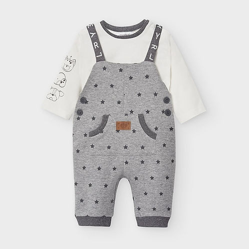 Mayoral Baby Boys Two Piece Dungaree Set